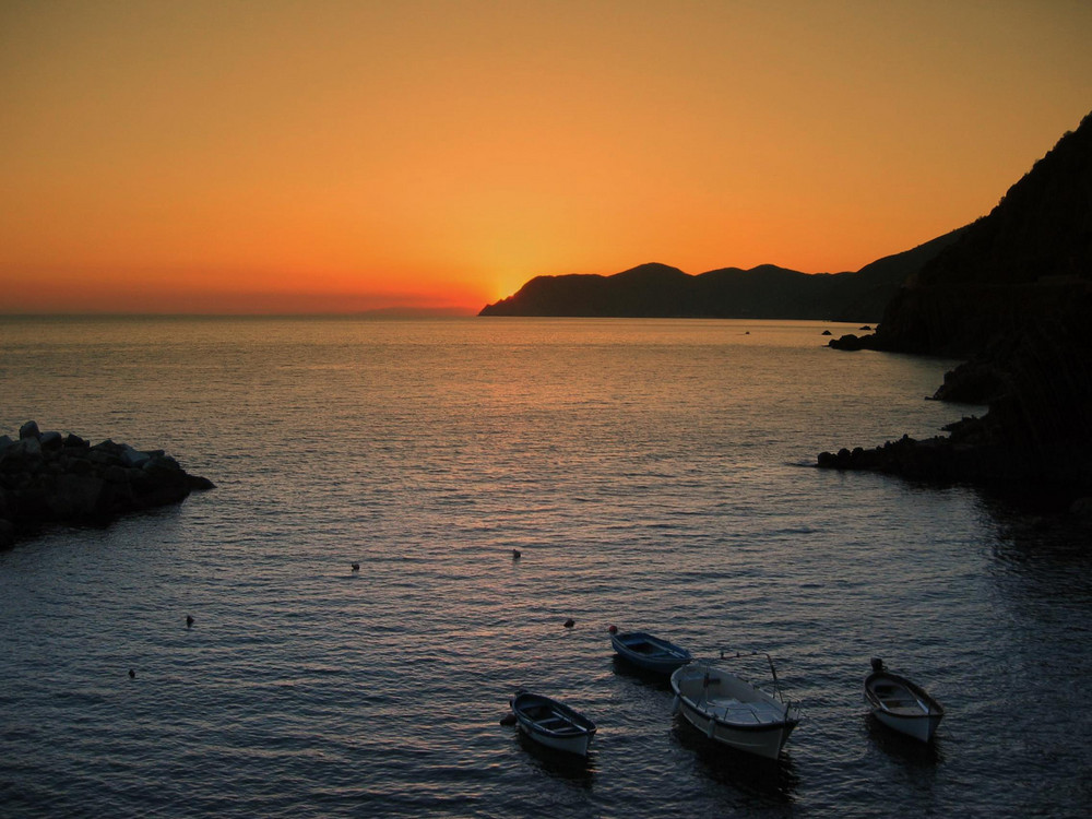 tramonto a Riomaggiore
