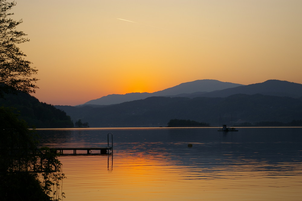 tramonto a Velden