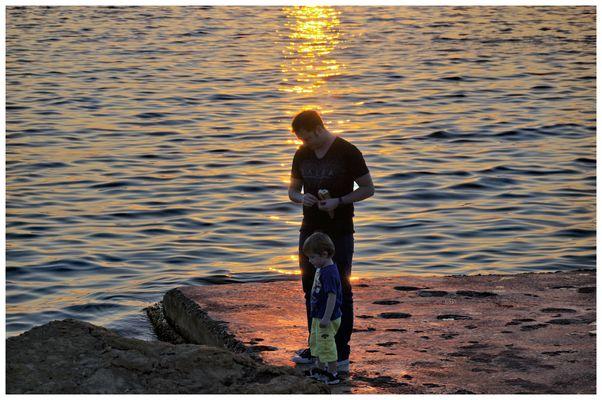 tramonto al mare...
