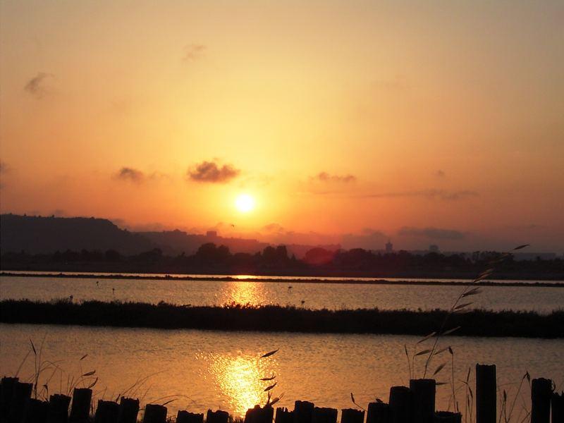 tramonto alle saline (ca)