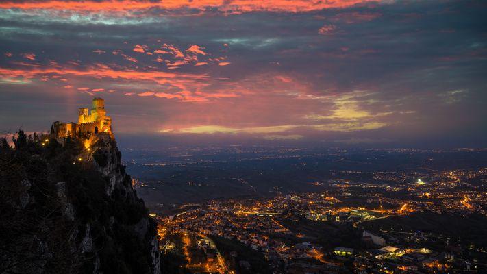 tramonto da San Marino