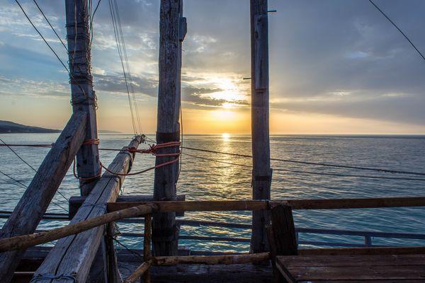 tramonto dal trabucco(peschici)