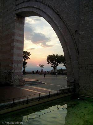 Tramonto dalla Basilica di S Chiara