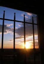 Tramonto dalla finestra