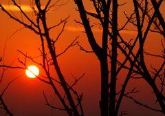 tramonto del 7 febbraio a montecatini alto