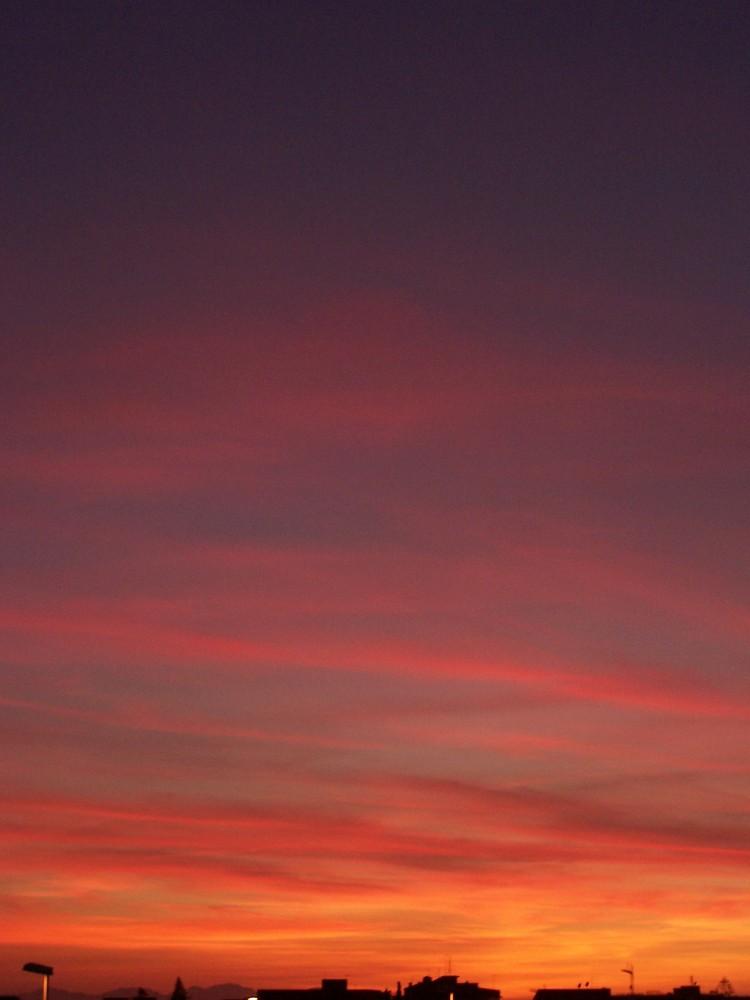 tramonto di fine primavera!