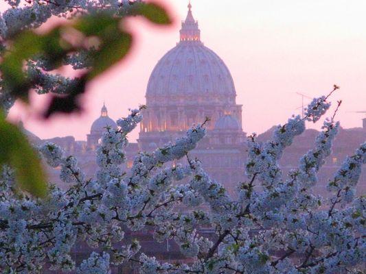 tramonto di primavera a Roma