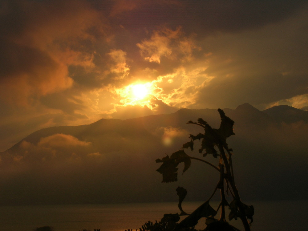 tramonto dopo la tempesta