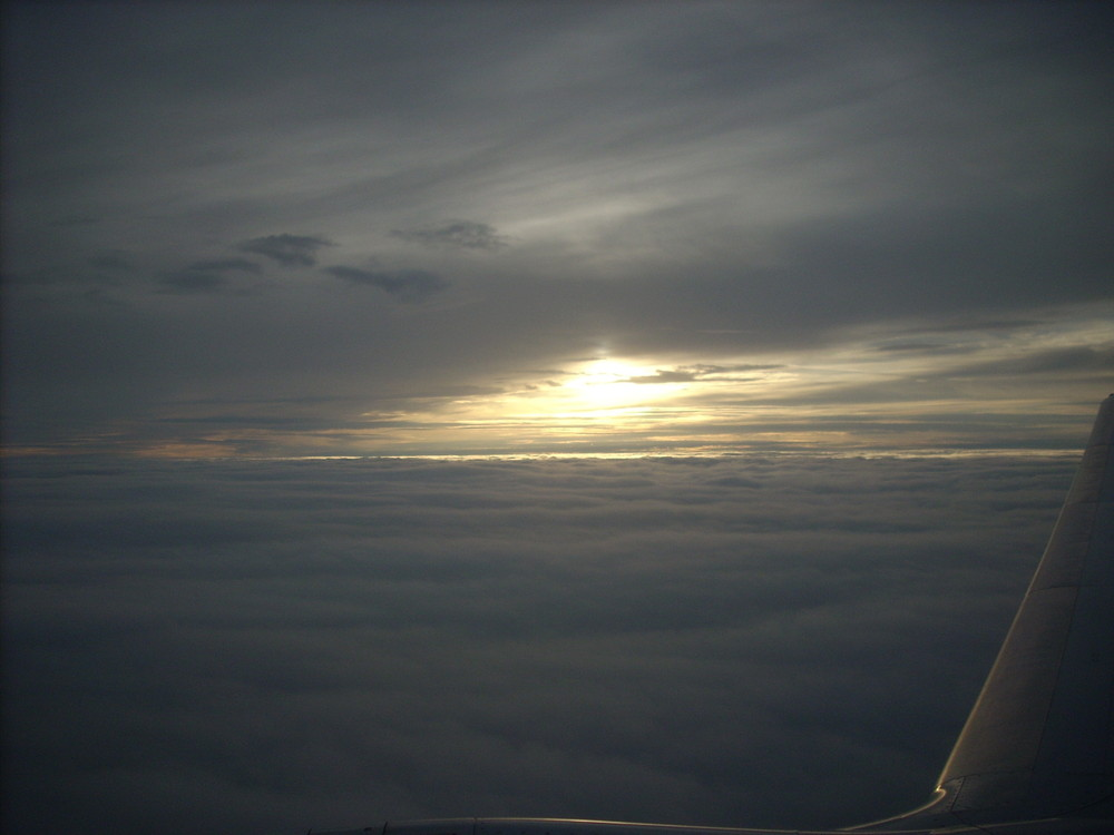 Tramonto in aereo
