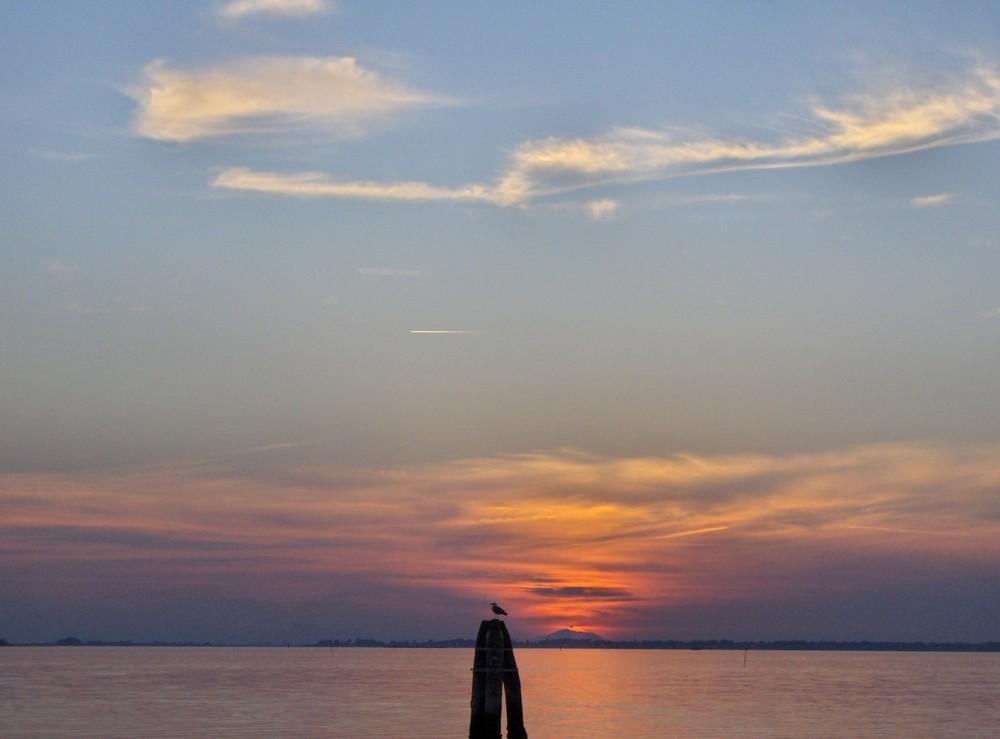 tramonto in laguna