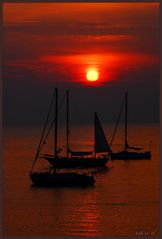 Tramonto in rosso