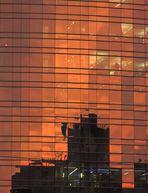 tramonto in un grattacielo