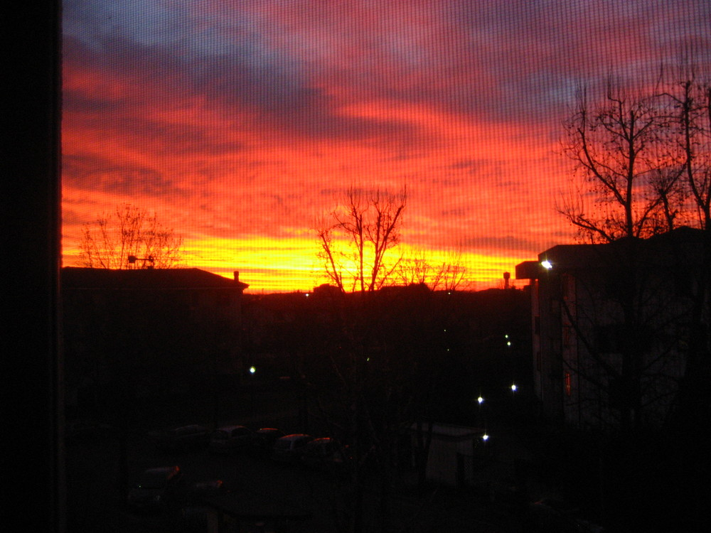 tramonto infuocato