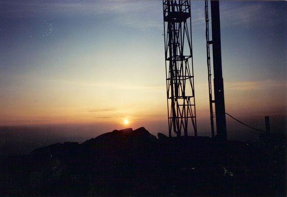 tramonto montano