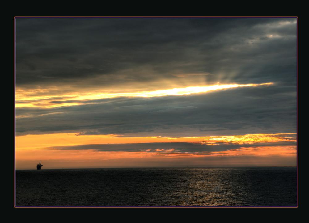 Tramonto nel Mare del Nord
