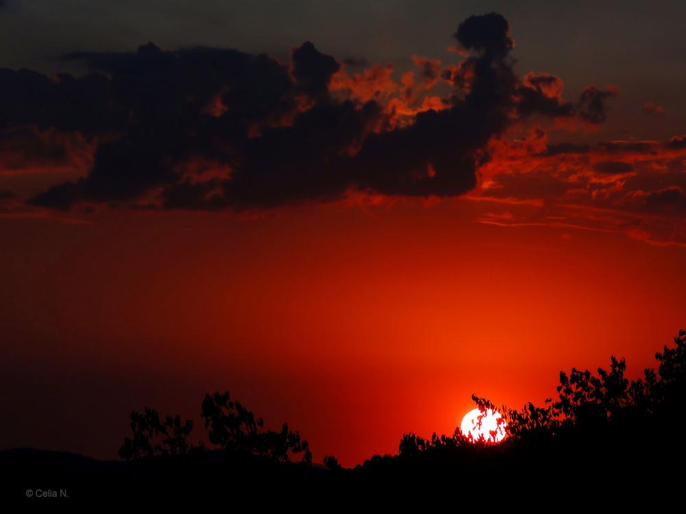 Tramonto.... Sonnenuntergang in Umbrien