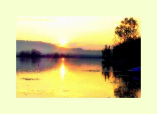 tramonto sul Fibreno