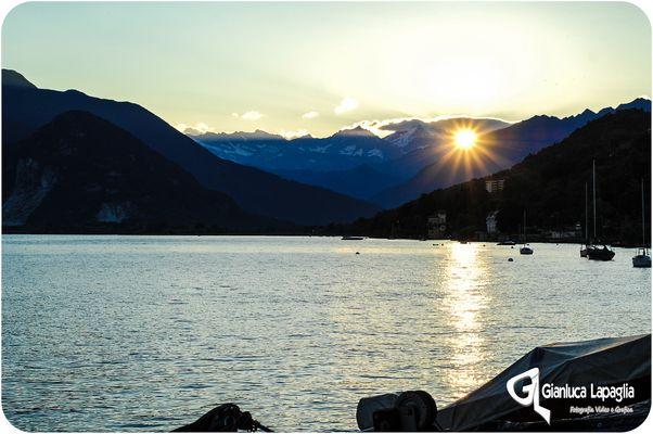 Tramonto sul Grande Lago Maggiore