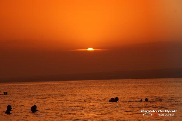 Tramonto sul mare di Sicilia