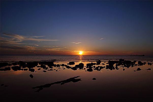 tramonto sul Tirreno...