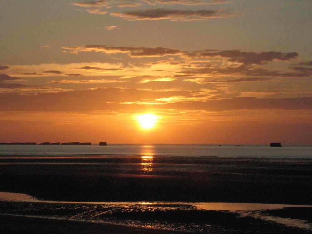 tramonto sulla Manica
