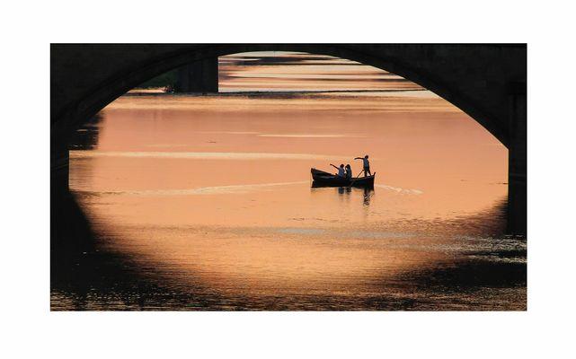 Tramonto sull'Arno del 21.08.2015