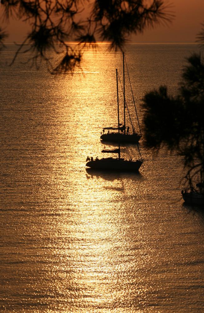 tramonto sull'elba