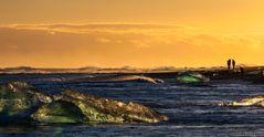 tramonto tra smeraldi di ghiaccio