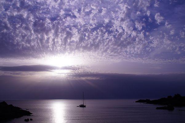 tramonto visto dalla marinedda
