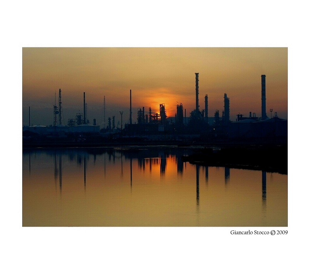 Tramonto...industriale.