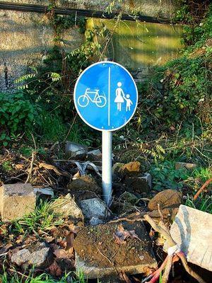 Trampelpfad für Mountainbiker und Bergsteiger...