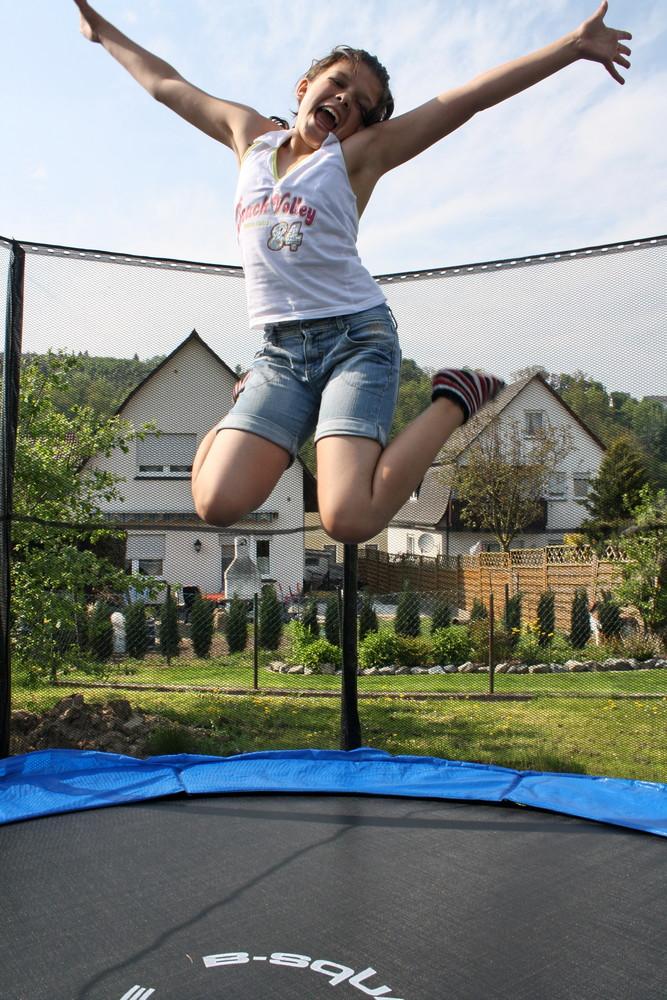 Trampolin hüppeln