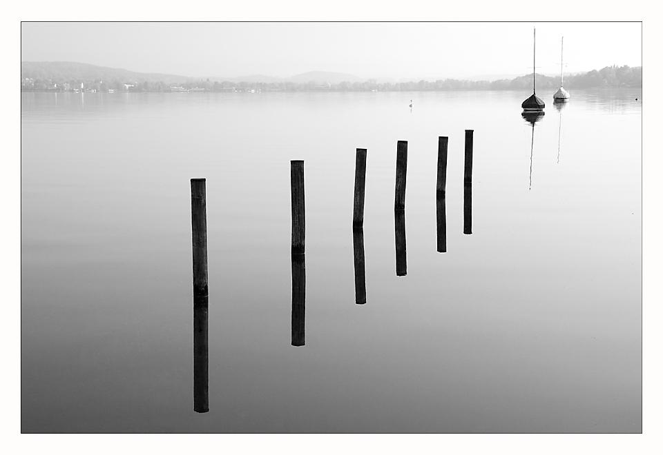 tranquilidad al lago en verano