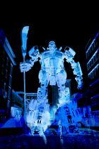 Transformer in Blau