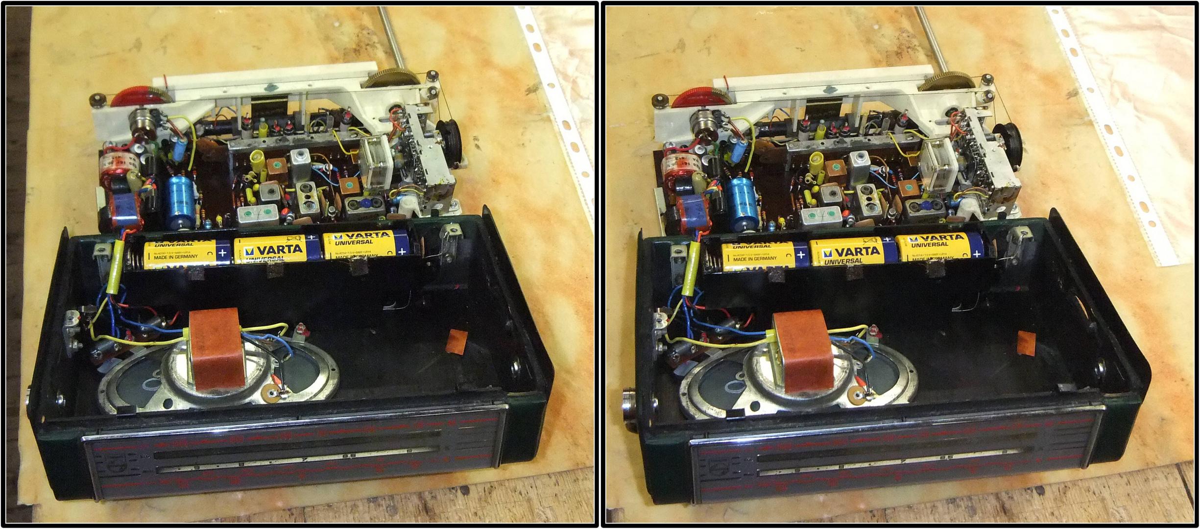 Transistorradio 3D Kreuzblick