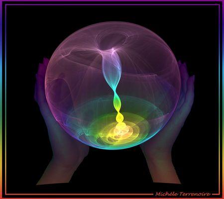 Transparence - Boule de lumière