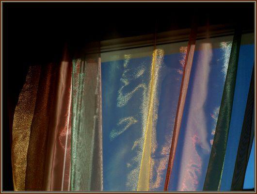 Transparence colorée moirée - Irisierende bunte Transparenz