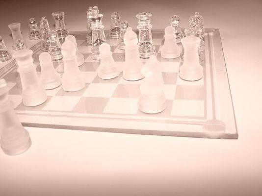 transparentes schach