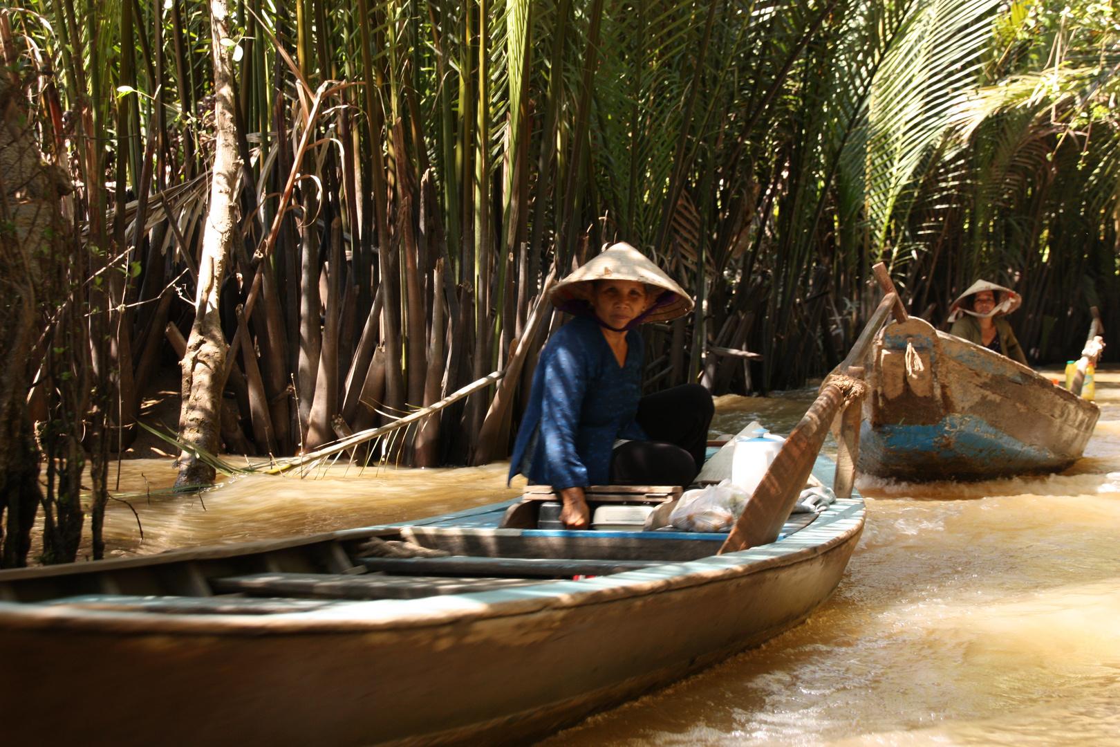 Transportmittel Nr. 1 auf den Inseln im Mekong Delta