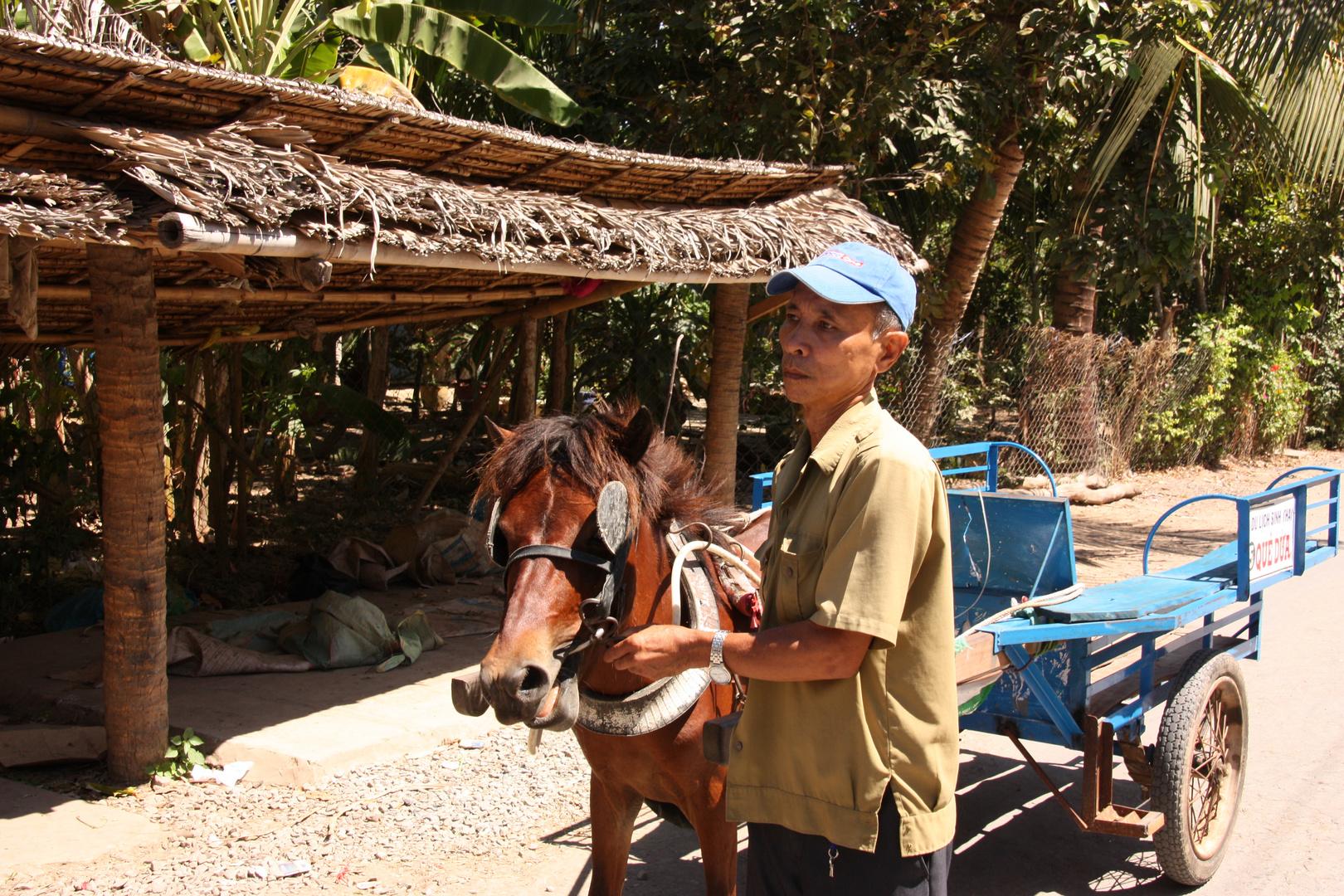Transportmittel Nr. 2 auf den Inseln im Mekong Delta