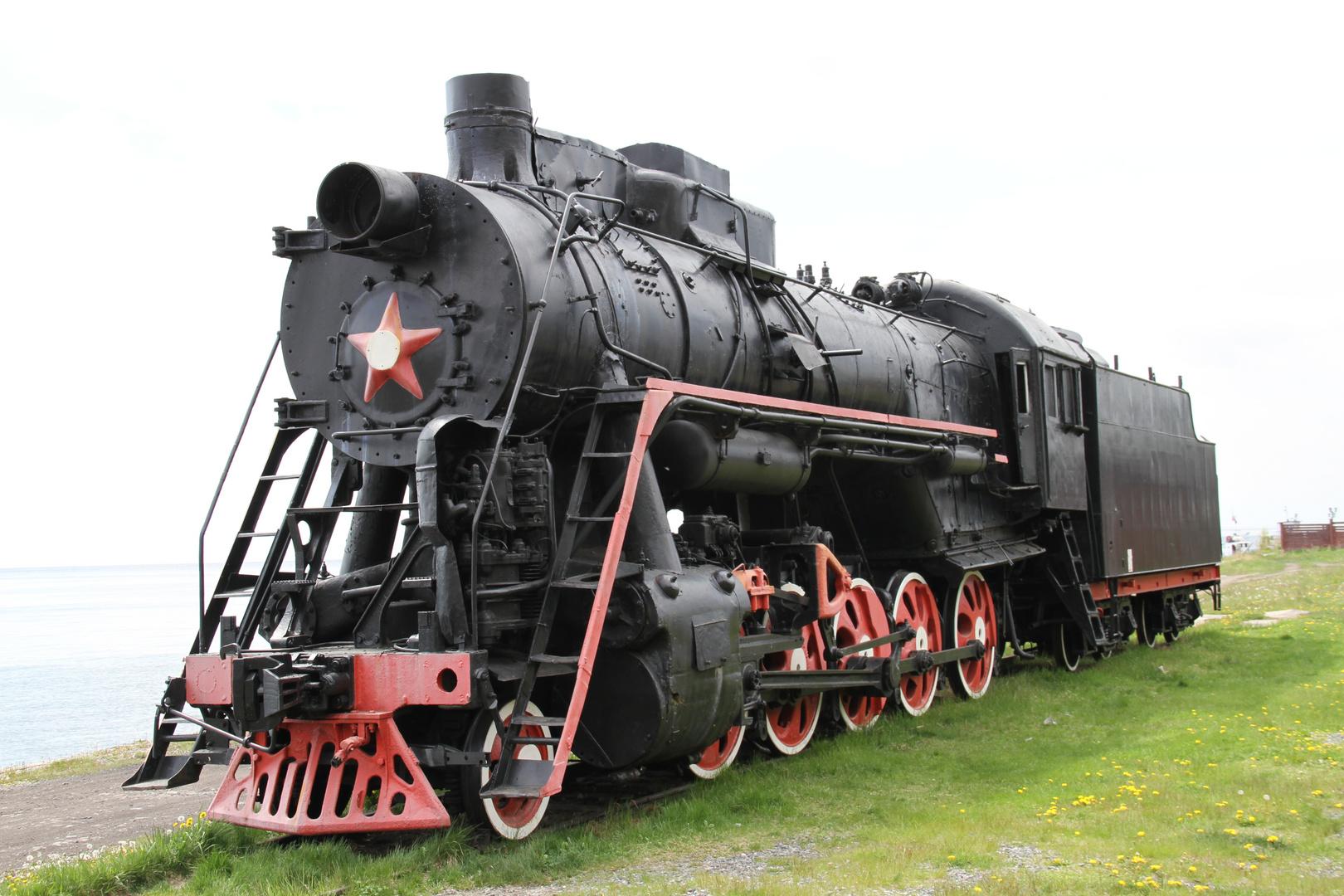 Transsibirische Eisenbahnlok
