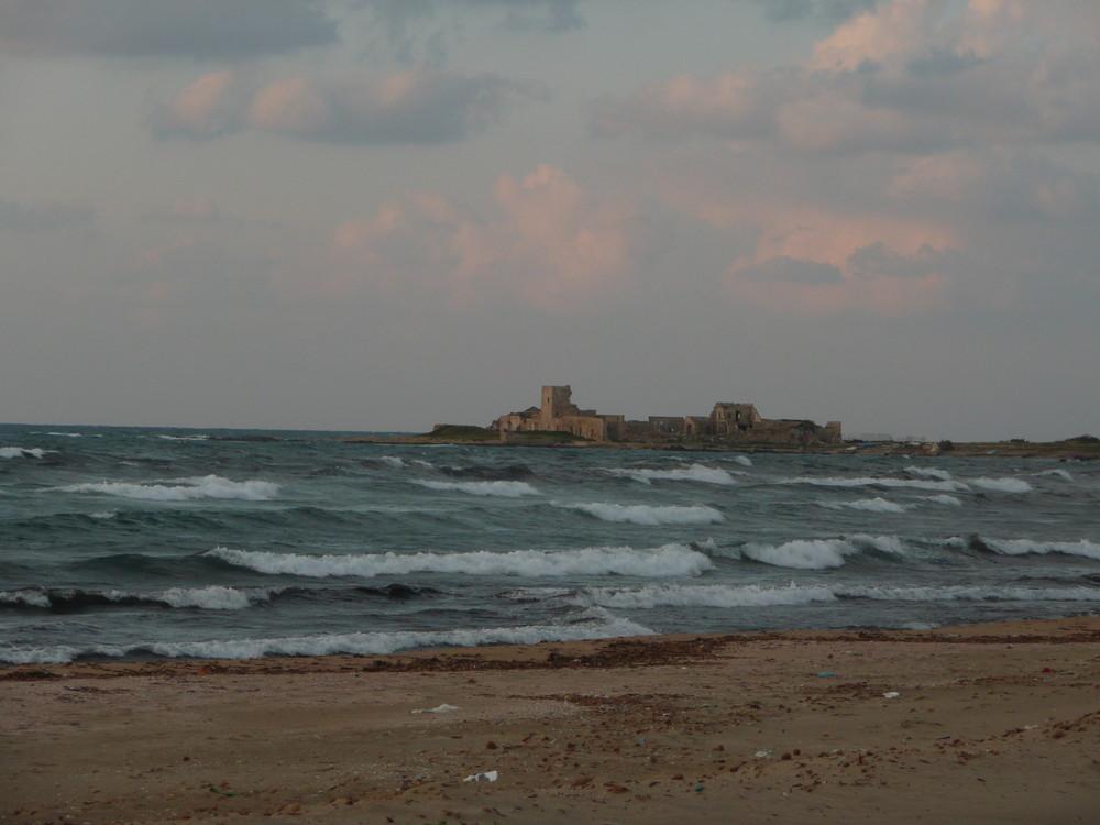 Trapani-Abends im Frühjahr am Meer.....