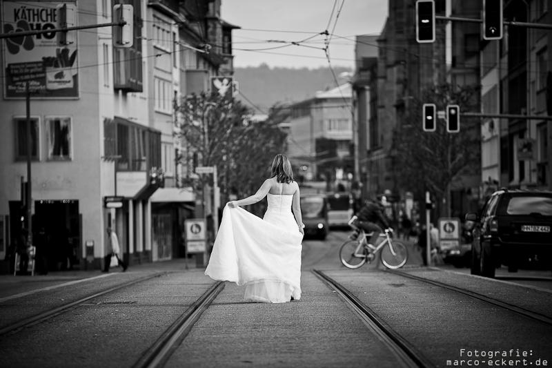 Trash-the-dress in Heilbronn