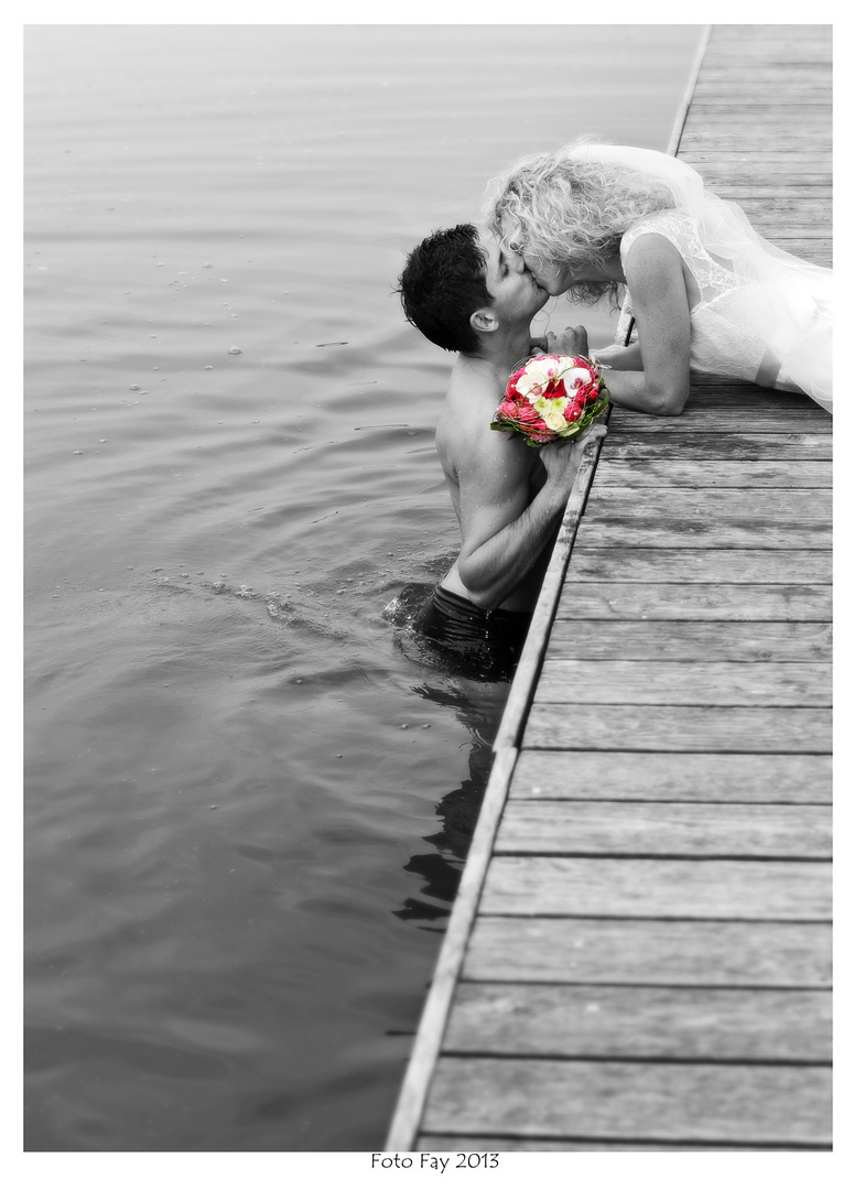 Trash wedding am See