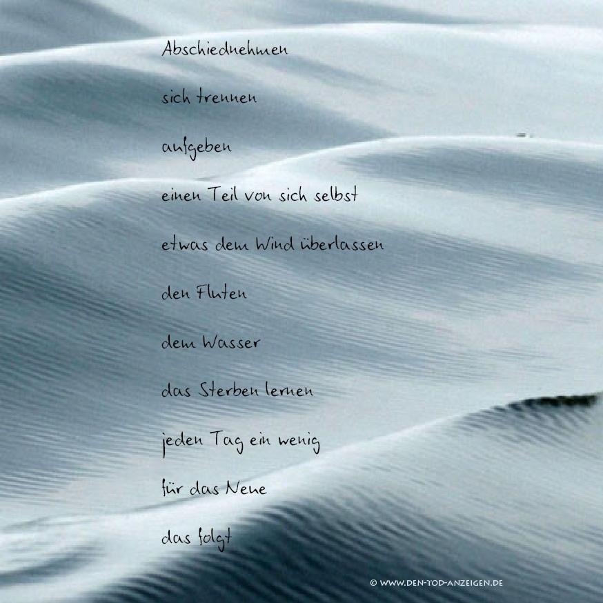Trauerkarte mit Wellen