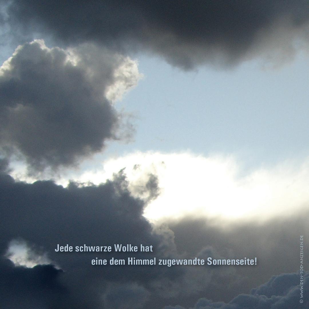 Trauerkarte mit Wolken