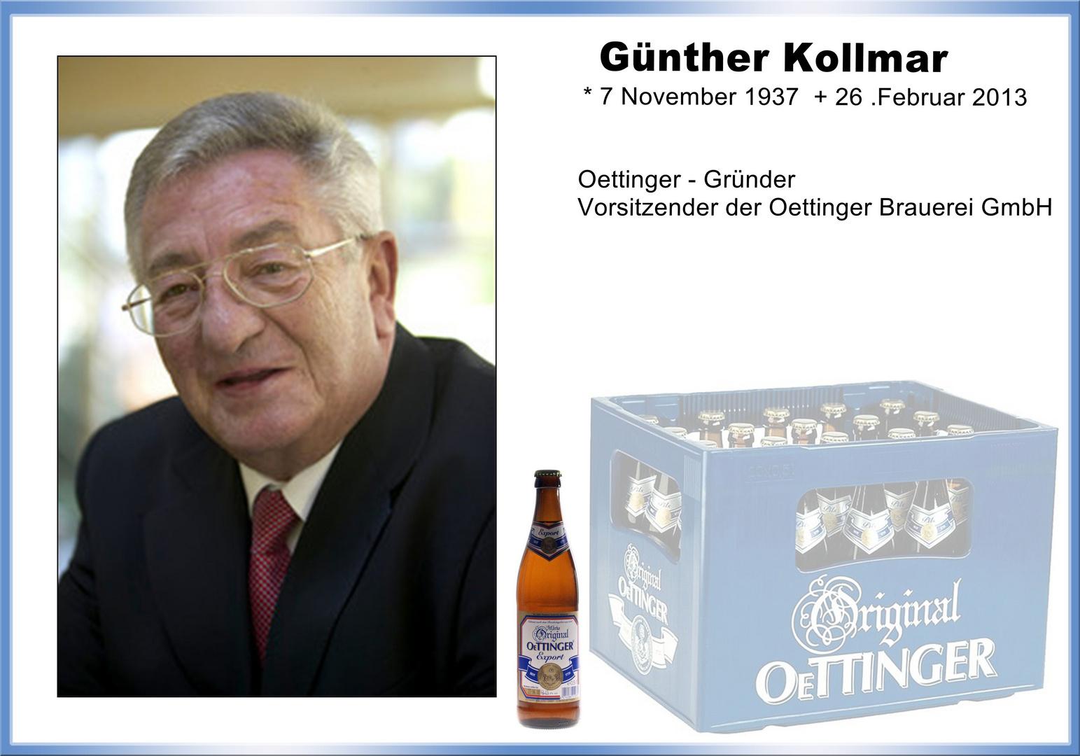 Trauermeldung Günther Kollmar