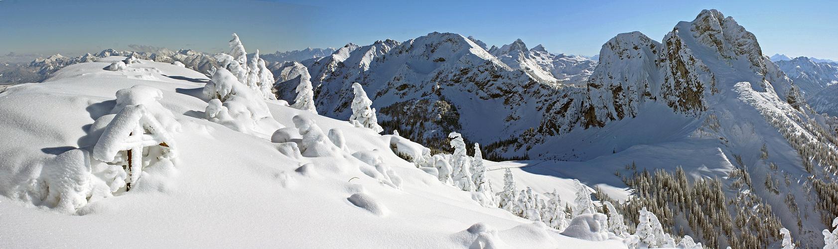 Traumhafte Winterlandschaft auf dem Breitenberg!