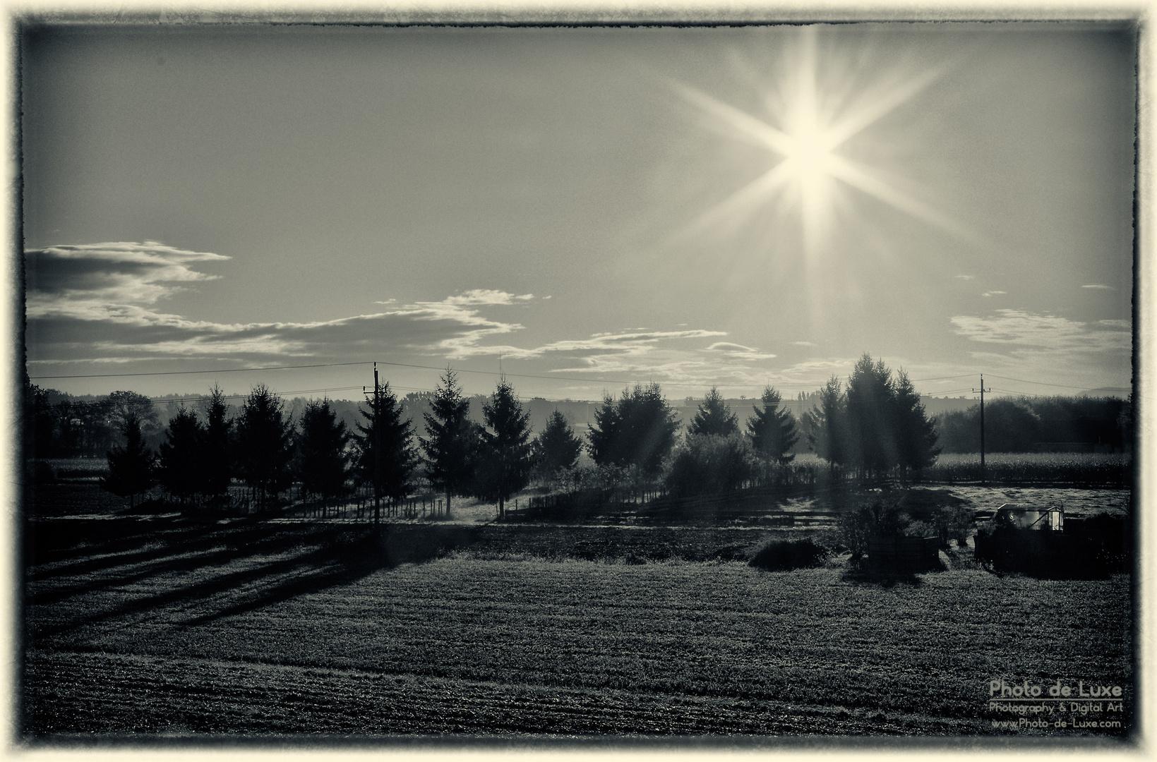 Traumhafter Herbst-Morgen am Lande
