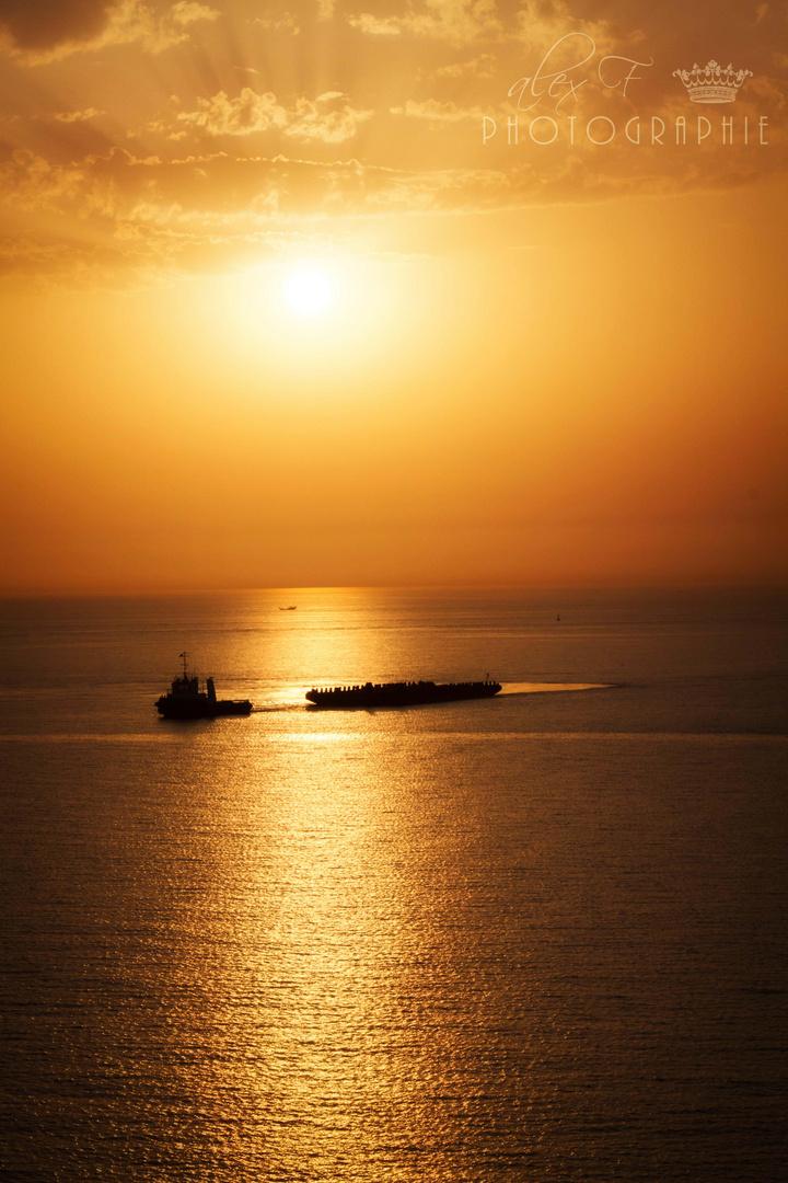 Traumhafter Sonnenuntergang in Abu Dhabi #1